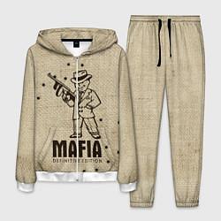Костюм мужской Mafia 2 цвета 3D-белый — фото 1