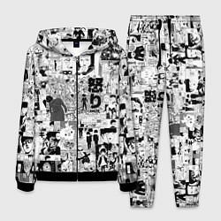 Костюм мужской МОБ ПСИХО 100 цвета 3D-черный — фото 1