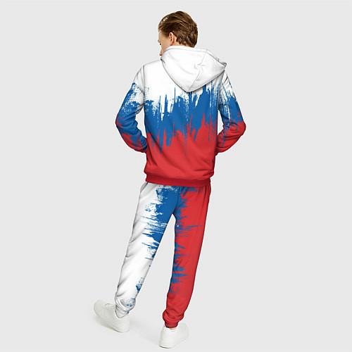 Мужской костюм РОССИЯ ТРИКОЛОР / 3D-Красный – фото 4