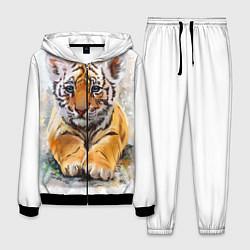 Костюм мужской Tiger Art цвета 3D-черный — фото 1