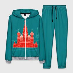 Костюм мужской Москва цвета 3D-меланж — фото 1