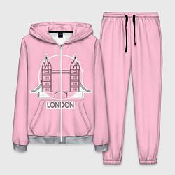 Костюм мужской Лондон London Tower bridge цвета 3D-меланж — фото 1