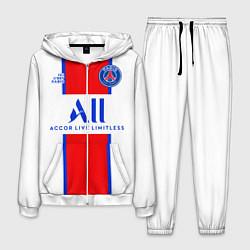 Костюм мужской PSG, выездная сезон 2021 цвета 3D-белый — фото 1