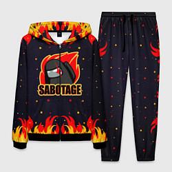 Костюм мужской Among Us Sabotage цвета 3D-черный — фото 1