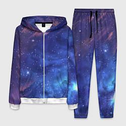 Костюм мужской Звёздное небо цвета 3D-белый — фото 1