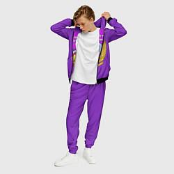 Костюм мужской А ещё я люблю фиолетовый цвета 3D-черный — фото 2