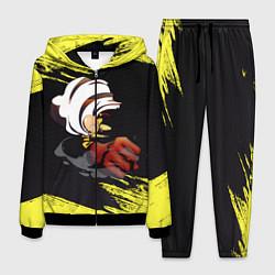 Костюм мужской Сайтама One Punch Man цвета 3D-черный — фото 1
