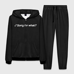 Костюм мужской Sorry for what? цвета 3D-черный — фото 1