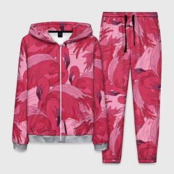 Костюм мужской Розовые фламинго цвета 3D-меланж — фото 1