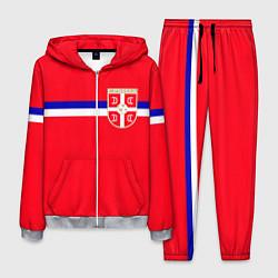 Костюм мужской Сборная Сербии цвета 3D-меланж — фото 1