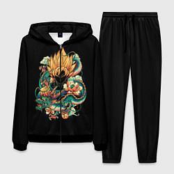 Костюм мужской Dragon Ball Retro Style цвета 3D-черный — фото 1