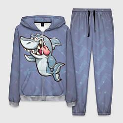 Костюм мужской Акула цвета 3D-меланж — фото 1