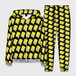 Костюм мужской Барт Симпсон: узор цвета 3D-меланж — фото 1
