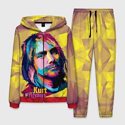 Костюм мужской Kurt Cobain: Abstraction цвета 3D-красный — фото 1
