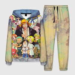 Костюм мужской One Piece цвета 3D-меланж — фото 1