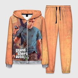 Костюм мужской GTA 5: Gangsta цвета 3D-меланж — фото 1