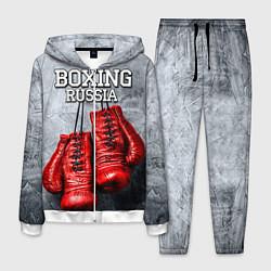Костюм мужской Boxing Russia цвета 3D-белый — фото 1