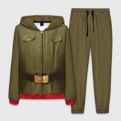 Костюм мужской Униформа солдата цвета 3D-красный — фото 1