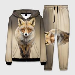 Костюм мужской Бегущая лисица цвета 3D-черный — фото 1
