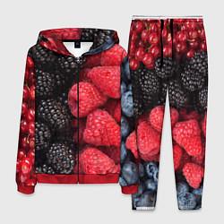 Костюм мужской Ягодная цвета 3D-красный — фото 1