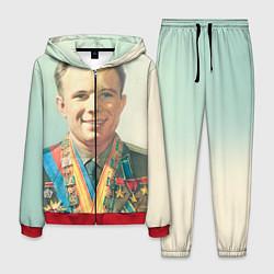 Костюм мужской Гагарин в орденах цвета 3D-красный — фото 1