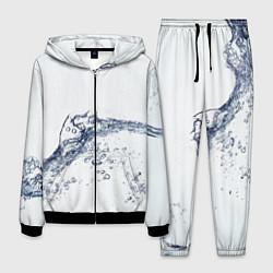 Костюм мужской Белая вода цвета 3D-черный — фото 1