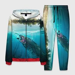 Костюм мужской Рыбалка на спиннинг цвета 3D-красный — фото 1
