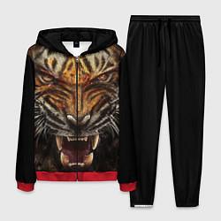 Костюм мужской Разъяренный тигр цвета 3D-красный — фото 1
