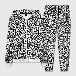Костюм мужской Английский алфавит цвета 3D-белый — фото 1
