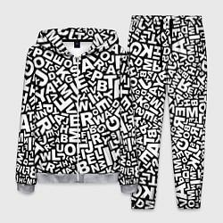 Костюм мужской Английский алфавит цвета 3D-меланж — фото 1