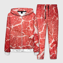 Костюм мужской Кусок мяса цвета 3D-белый — фото 1
