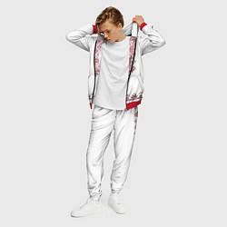 Костюм мужской Вышивка 41 цвета 3D-красный — фото 2