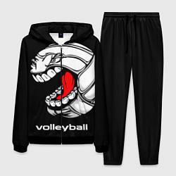 Костюм мужской Волейбол 25 цвета 3D-черный — фото 1