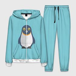 Костюм мужской Пингвин цвета 3D-белый — фото 1