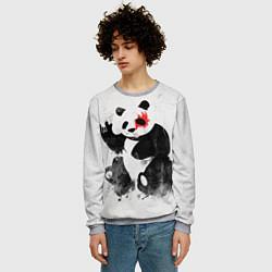 Свитшот мужской Рок-панда цвета 3D-меланж — фото 2