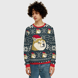 Свитшот мужской Doge новогодний цвета 3D-красный — фото 2