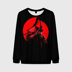 Свитшот мужской Сила самурая цвета 3D-черный — фото 1