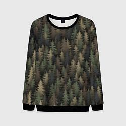 Свитшот мужской Лесной камуфляж цвета 3D-черный — фото 1