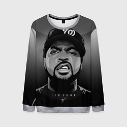 Свитшот мужской Ice Cube: Gangsta цвета 3D-меланж — фото 1