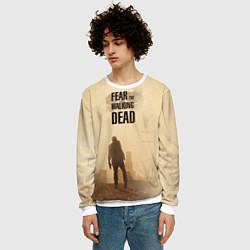 Свитшот мужской FtWD: Walking Zombie цвета 3D-белый — фото 2