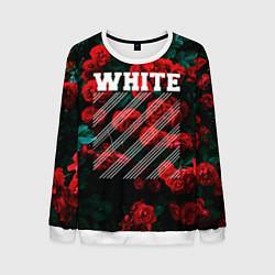 Свитшот мужской Off-White: Roses Fashion цвета 3D-белый — фото 1