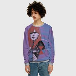 Свитшот мужской Natasha Romanoff цвета 3D-меланж — фото 2