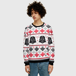 Свитшот мужской Дарт Вейдер Новогодний цвета 3D-черный — фото 2
