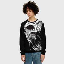 Свитшот мужской Череп Z цвета 3D-черный — фото 2