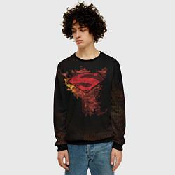 Свитшот мужской Superman цвета 3D-черный — фото 2