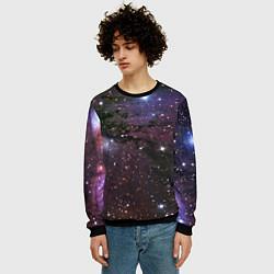 Свитшот мужской Галактика S цвета 3D-черный — фото 2