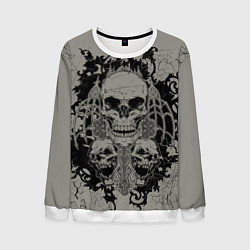 Свитшот мужской Skulls цвета 3D-белый — фото 1