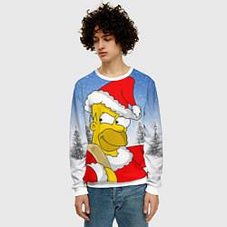 Свитшот мужской Санта Гомер цвета 3D-белый — фото 2
