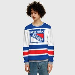 Свитшот мужской New York Rangers цвета 3D-меланж — фото 2