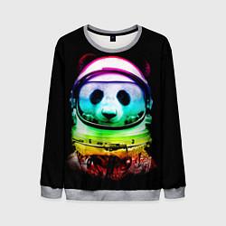 Свитшот мужской Панда космонавт цвета 3D-меланж — фото 1